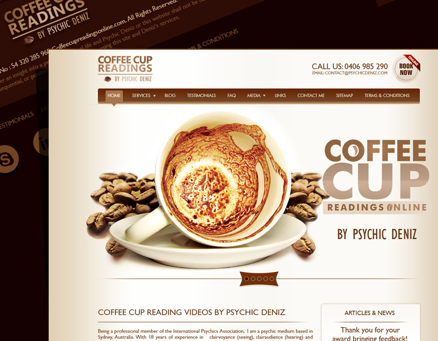 CoffeeCup Readings | Website Design | Social Media | Mobile App Design