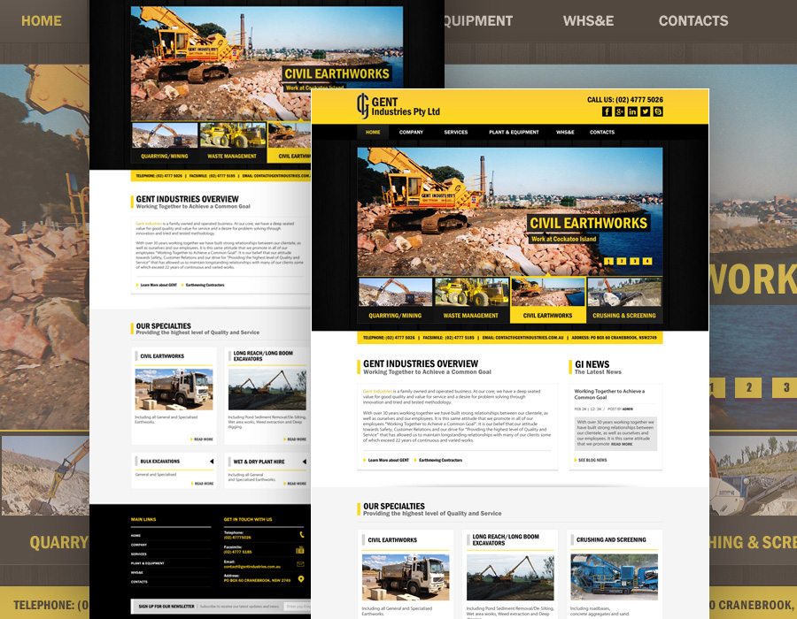 Gent Industries | Website Design