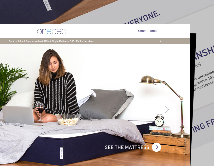 One Bed | Website | Mobile Design