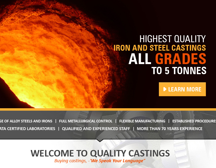 Quality Castings Ltd | Website Design