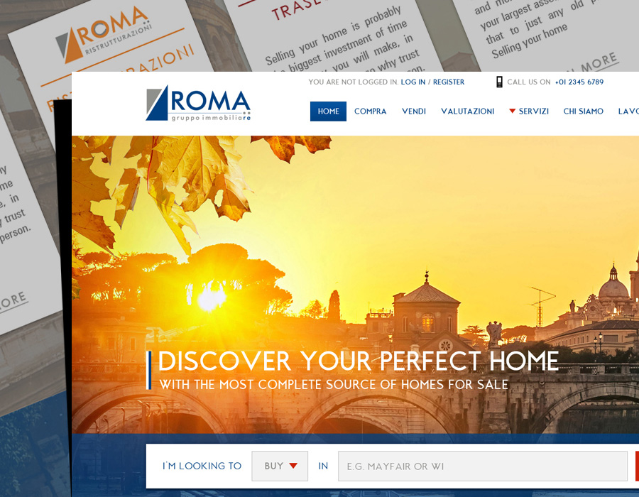 Roma | Website | Mobile Design